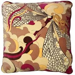 1970s Emilio Pucci Multicolor Velvet Pillow