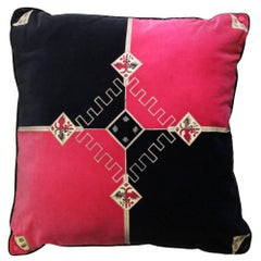 1960s Emilio Pucci Multicolor Velvet Pillow