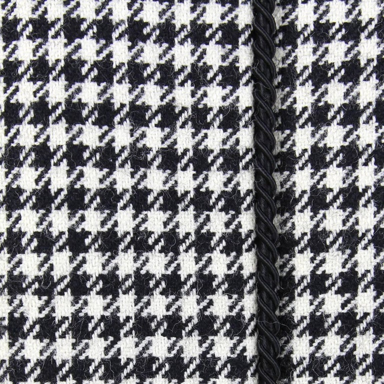 Women's 1990s Yves Saint Laurent Black and White Wool Jacket For Sale