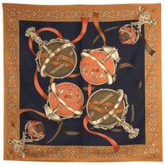 Roberta di Camerino Multicolor Printed Silk Scarf, 1990s