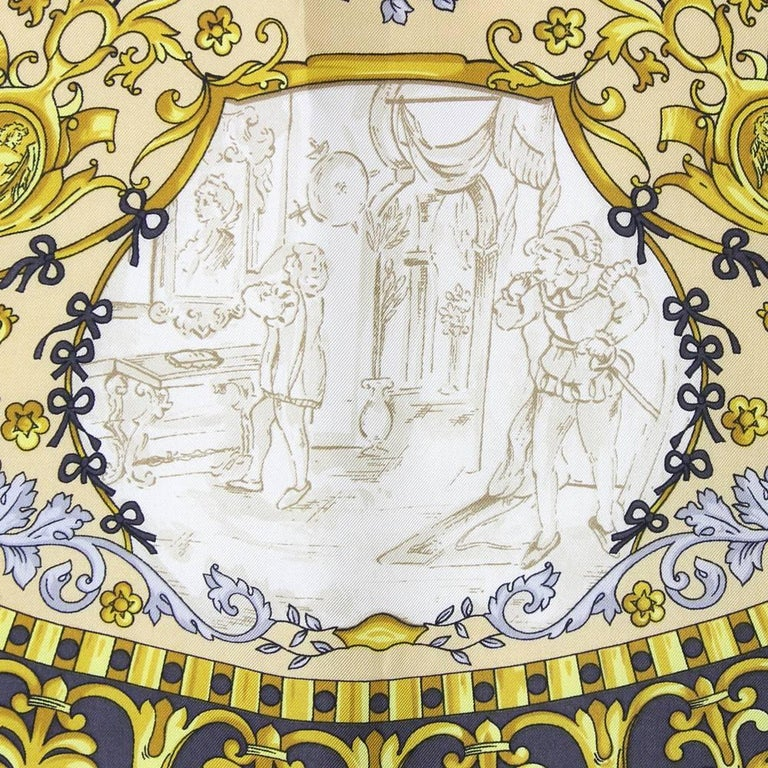 Roberta di Camerino Multicolor Printed Silk Scarf, 1990s  In Good Condition For Sale In Lugo (RA), IT