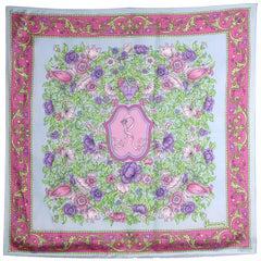 1990s Roberta di Camerino Multicolor Printed Silk Scarf