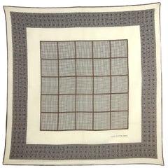 1990s Louis Vuitton Geometric Pattern Silk Scarf