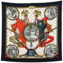 1990s Hermès Multicolor Printed Silk Scarf