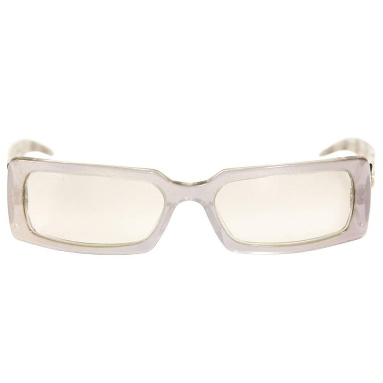 2000s Chanel Iridescent Acetate Glasses