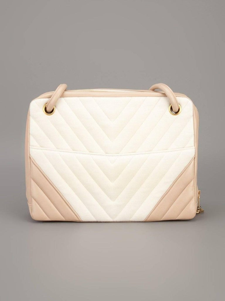 Chanel Pink and White Bag, 1990s In Good Condition For Sale In Lugo (RA), IT
