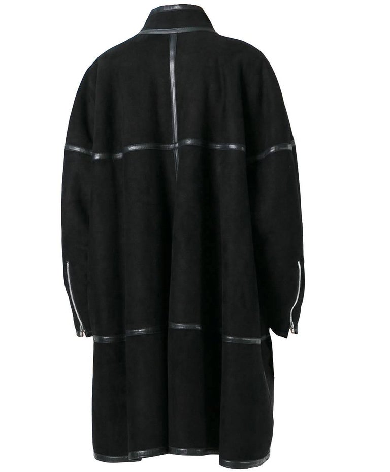 Alaïa Black Sheep Skin Vintage Coat, 1980 In Excellent Condition For Sale In Lugo (RA), IT