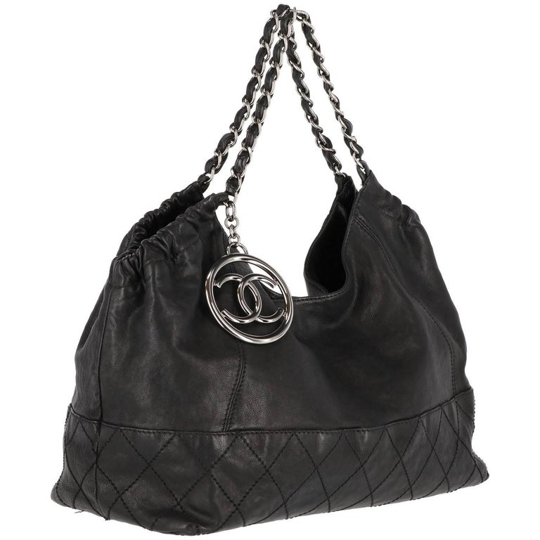 2000s Chanel Vintage Coco Cabas Tote Bag For Sale