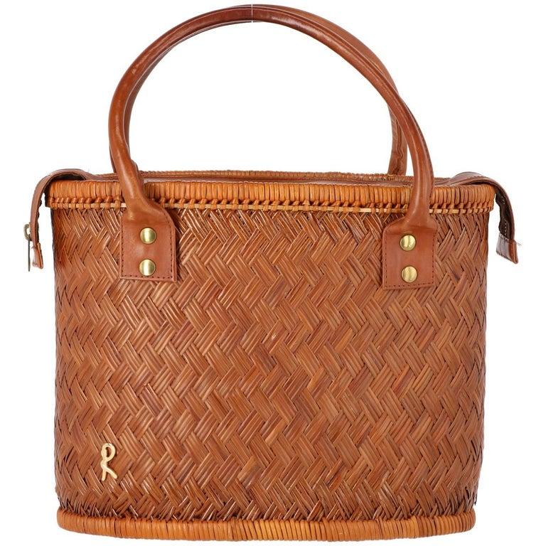 1960s Roberta di Camerino Rattan Bucket Bag