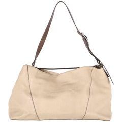 2000s Vince Vintage Cream Leather Tote Bag