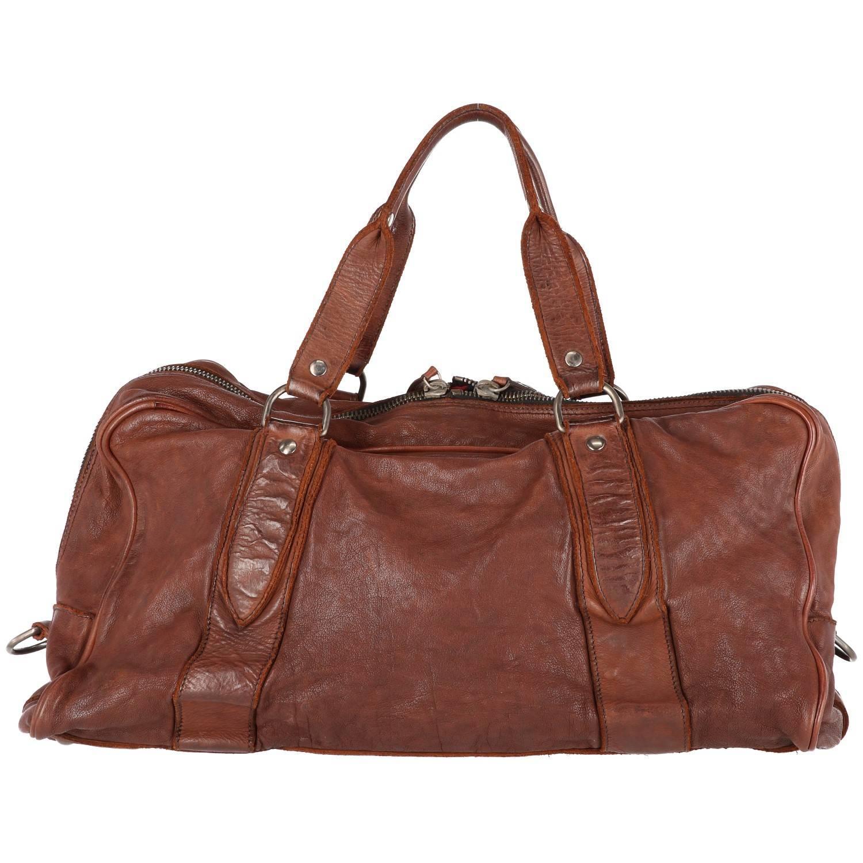 1stdibs 2000s Miu Miu Brown Leather Travel Bag l17v0R