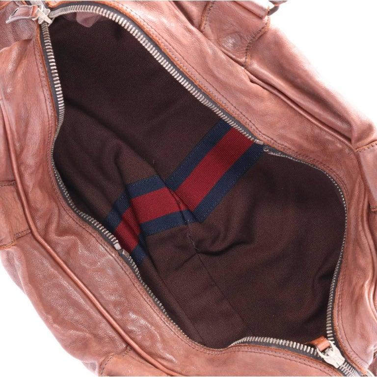 2000s Miu Miu Brown Leather Travel Bag For Sale at 1stdibs cbf3016caf