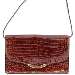 1970s Hermès Vintage Crocodile Leather Crossbody Bag