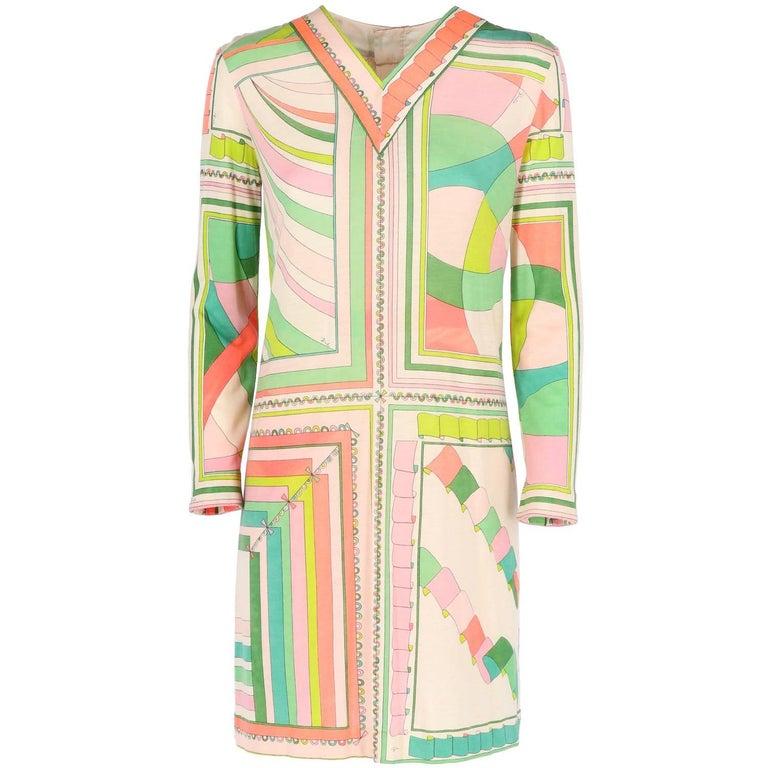 1960s Emilio Pucci Vintage Pastel Dress