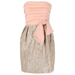 2000s Emilio Pucci Pink and Silver Vintage Dress