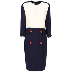 1990s Gianfranco Ferré Contrasting Panel Vintage Dress