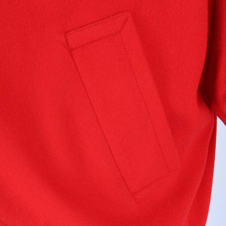 Women's 1980s Yves Saint Laurent Red Wool Vintage Jacket For Sale