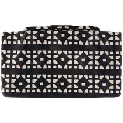 2000s Marni Black and White Lather Pochette