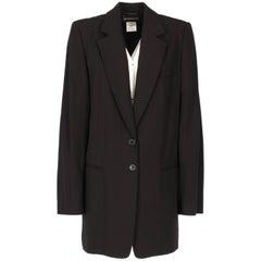 2000s Ann Demeulemeester Black Vintage Overcoat