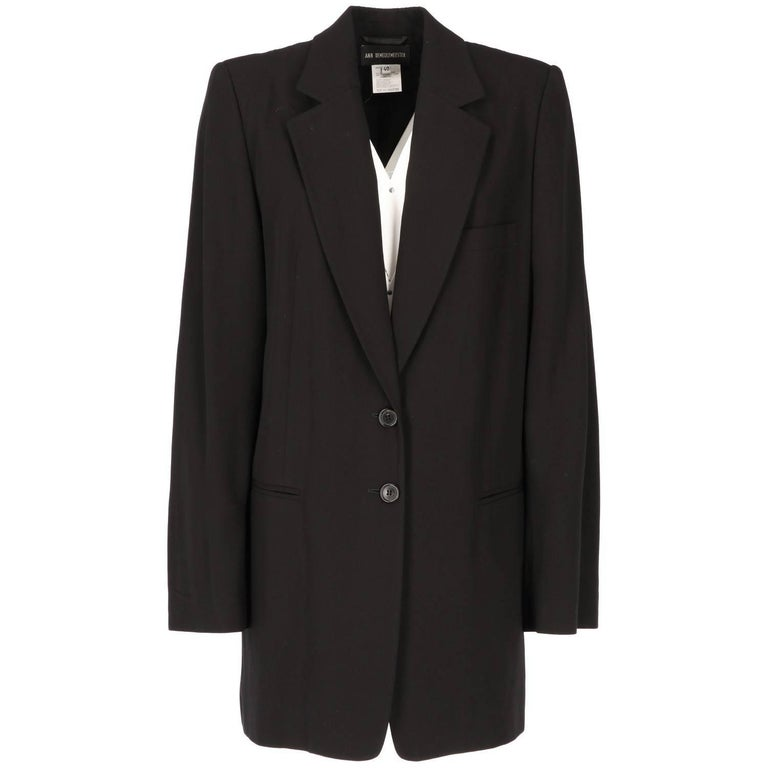 2000s Ann Demeulemeester Black Vintage Jacket