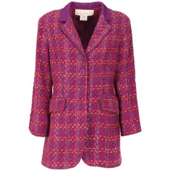 1980s Nina Ricci Purple Wool Vintage Jacket