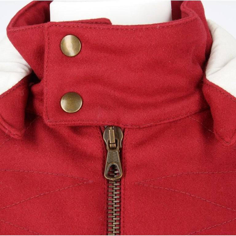 2000s Romeo Gigli Burgundy Vintage Hooded Coat For Sale 2