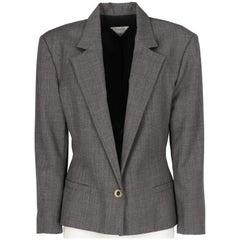 1980s Gianni Versace Grey Wool Vintage Jacket
