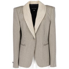 1980s Giorgio Armani Black and White Vintage Blazer