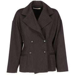 1990s Dolce e Gabbana Grey Wool Vintage Jacket