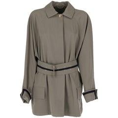 1980s Versace Kaki Vintage Belted Jacket