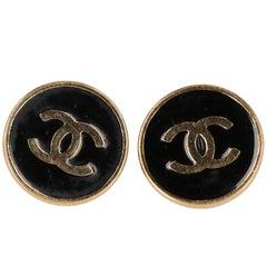 Chanel Gold Metal Vintage Earrings, 1990s