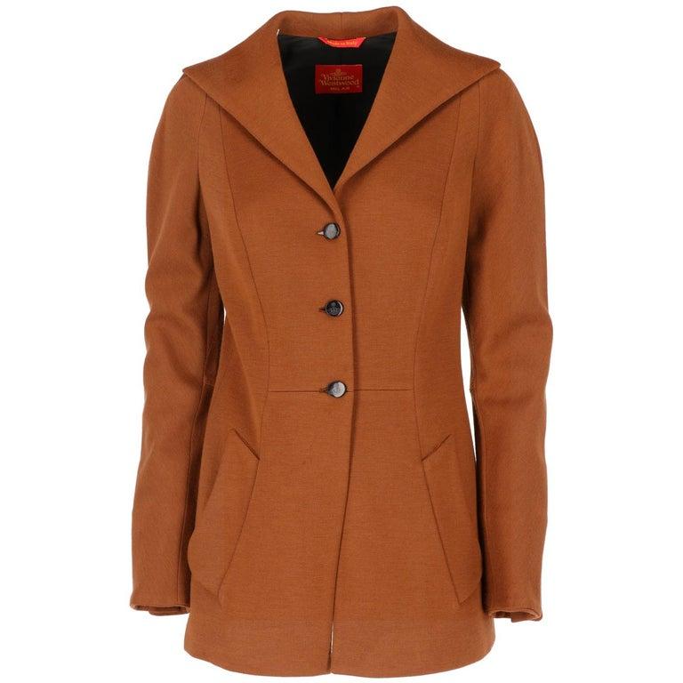 Vivienne Westwood Brown Wool Jacket, 1990s  For Sale