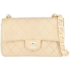 1990s Chanel beige leather bag