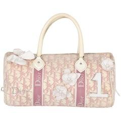 2000s Dior White and Pink Monogram handbag