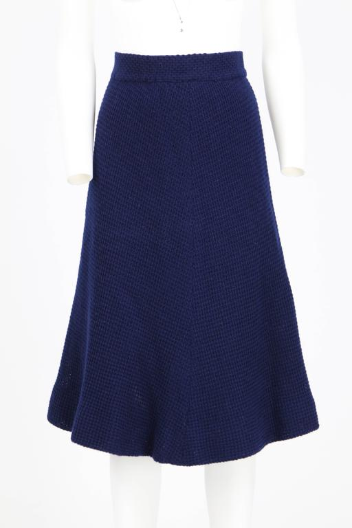 Women's 1970S Stop Sénès Blue Wool Cape-and-Skirt Enswmble For Sale
