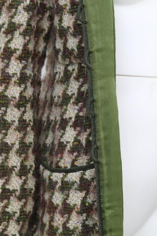 Women's 1990s Chanel Pied de Poule Overcoat For Sale