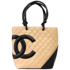 """2000s Chanel Black and Pink Leather """"Rue Chambon"""" Bag"""