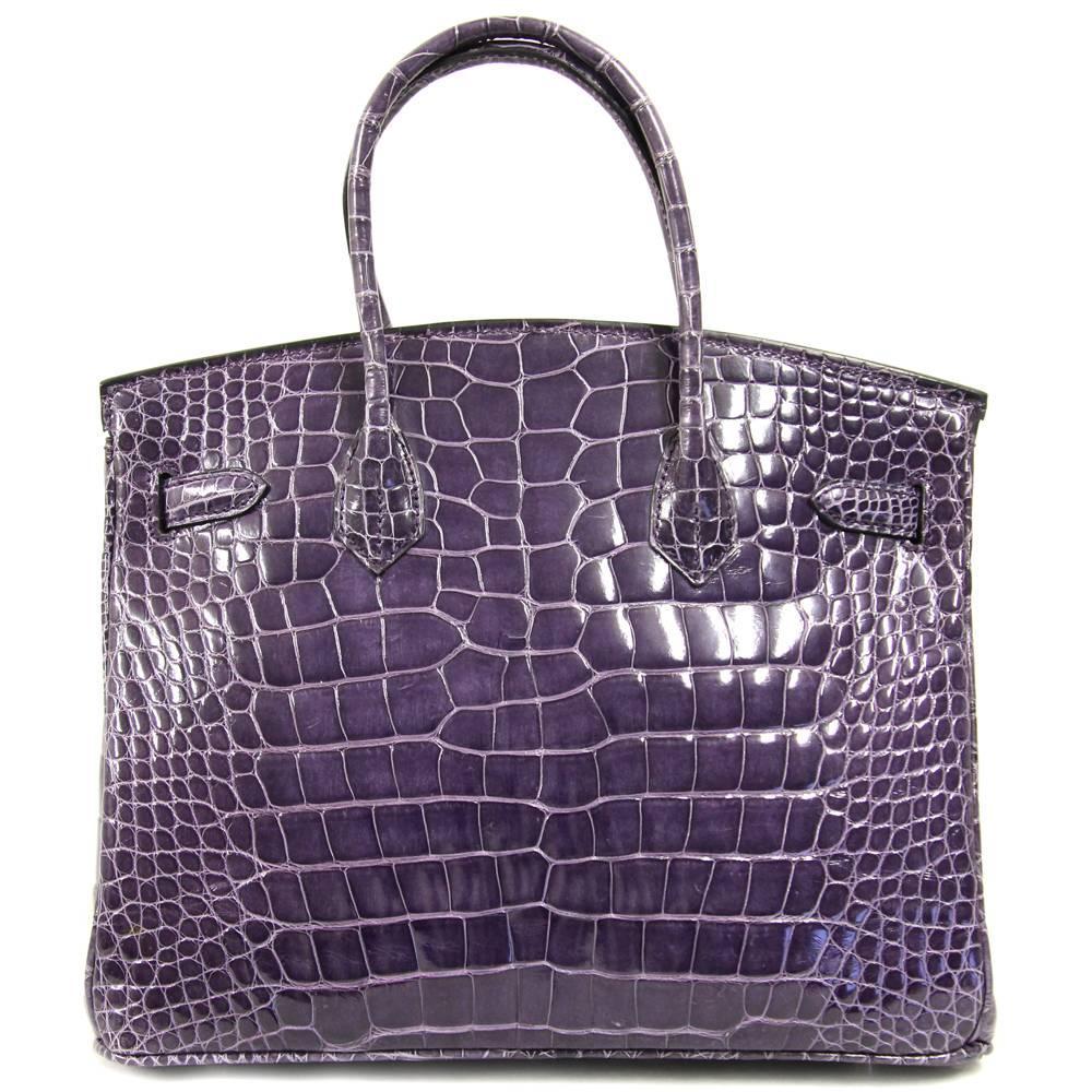 1stdibs 2000s Sirni Purple Crocodile Leather Bag Zoamr