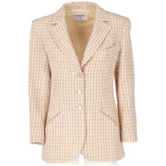Chanel Pink Wool Vintage Jacket, 1990s