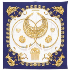 """Les Cavaliers d'Or"" Hermès Printed Silk Carré"