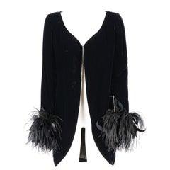 1970s Balmain Ivoire black velvet jacket