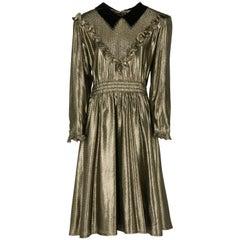 1980s Valentino gold lurex Dress