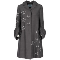 Prada Wool and Sequins Coat, 2000s