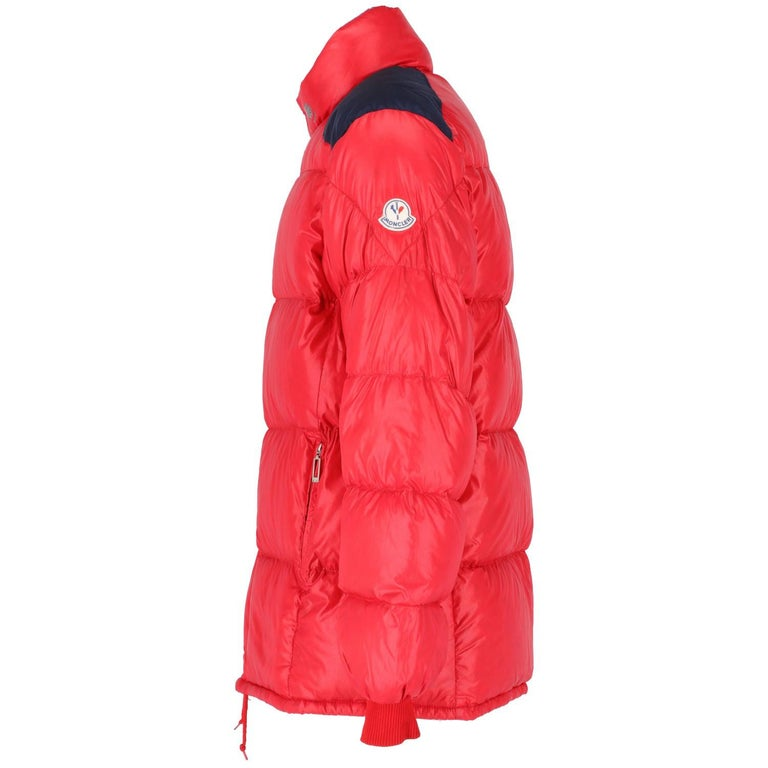 1990s Moncler Red Vintage Quilted Jacket In Good Condition For Sale In Lugo (RA), IT