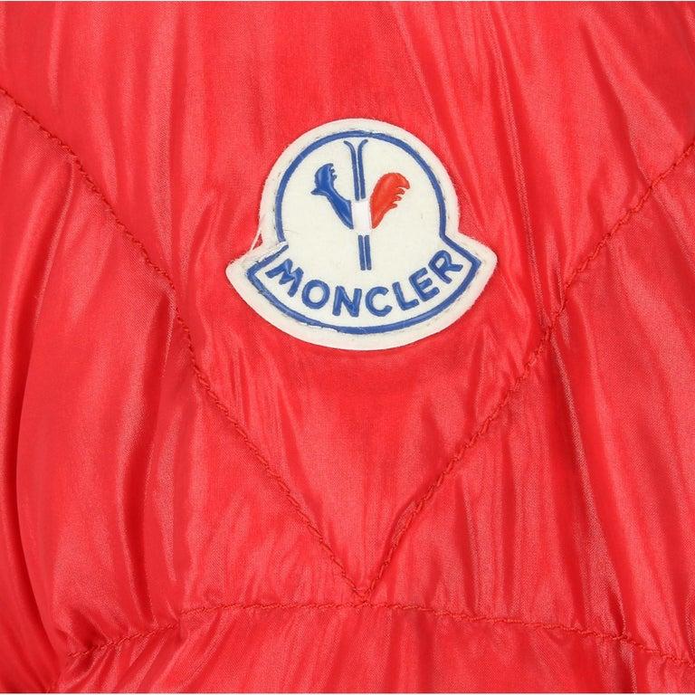 Men's 1990s Moncler Red Vintage Quilted Jacket For Sale