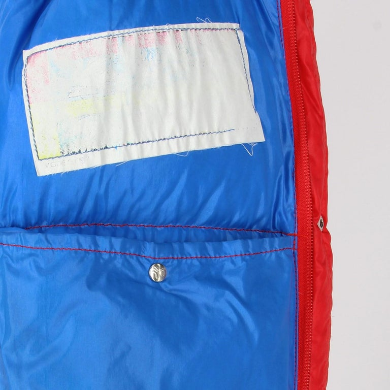 1990s Moncler Red Vintage Quilted Jacket For Sale 4