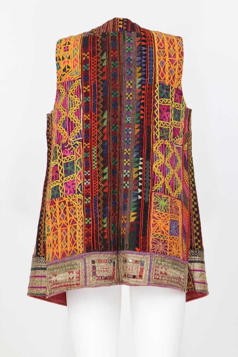 Brown 1980s Handmade Rajasthan Gilet For Sale