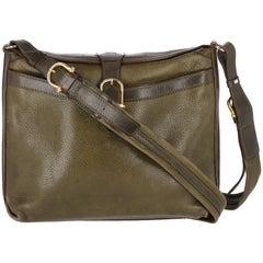 1970s Céline Vintage Green Leather Bag