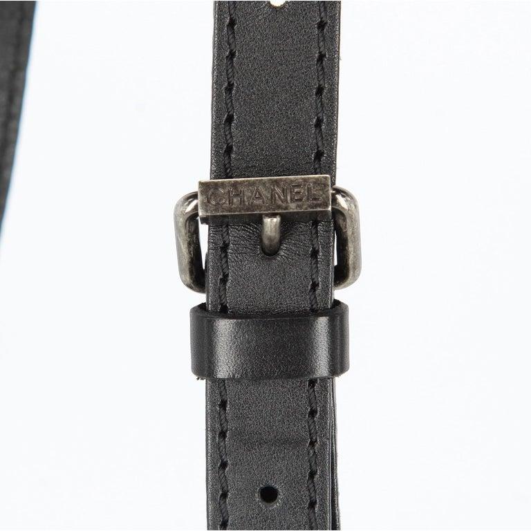 2008-2009s Chanel Black Tweed Vintage Bag For Sale 2