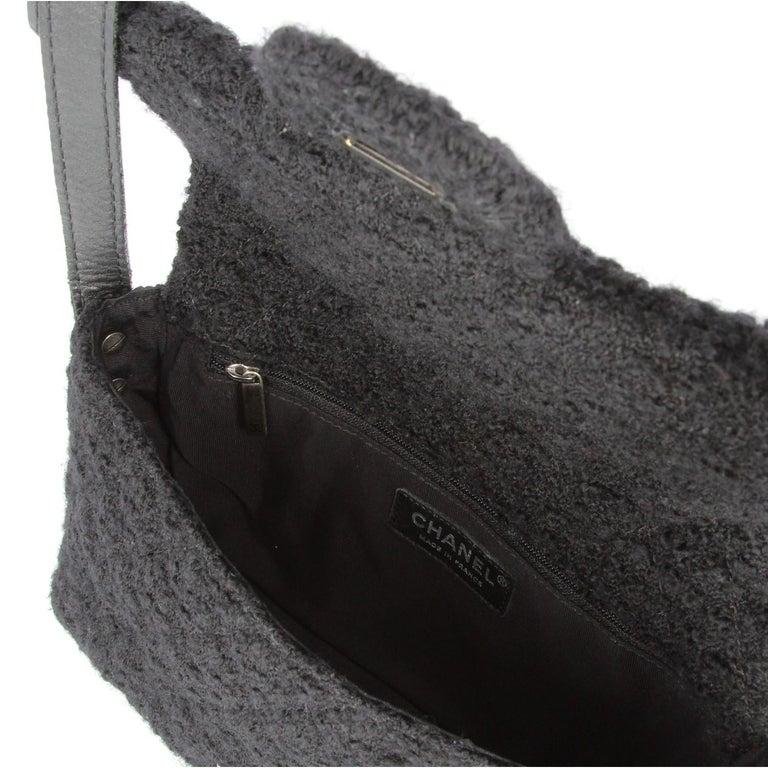 Women's 2008-2009s Chanel Black Tweed Vintage Bag For Sale